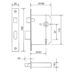 Securefast BS3621 5-Lever Sashlock