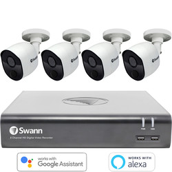 Swann Security Swann 1080P Security System DVR Camera Kit 8 Channel 4 Camera - 69284 - from Toolstation
