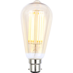 Inlight Vintage LED Filament ST64 Bulb Lamp 6W BC 550lm Tint - 69327 - from Toolstation