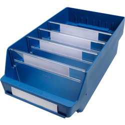 Barton Blue Shelf Bin 400 x 240 x 150mm - 69329 - from Toolstation