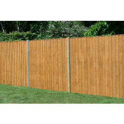 Forest Garden Featheredge Fence Panel - 4 Pack 154cm(h)x183cm(w)