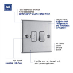 BG Brushed Steel Switched Spur