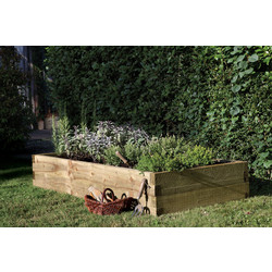 Forest Garden Caledonian Rectangular Raised Bed 28cm (h) x 180cm (w) x 90cm (d) - 69399 - from Toolstation
