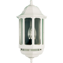 ASD ASD Half Lantern Polycarbonate 60W BC White PIR - 69464 - from Toolstation
