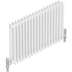 Tesni Gio 2 Column Horizontal Designer Radiator 600 x 1400mm 6769Btu White