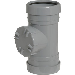 Aquaflow Access Pipe 110mm Grey - 69732 - from Toolstation