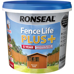 Ronseal Ronseal Fence Life Plus 5L Harvest Gold - 69773 - from Toolstation