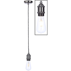 Inlight Vintage Pendant Cable Set Pewter - 69850 - from Toolstation