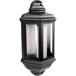 LED IP44 Half Lantern 7W Black 540lm - 69928 - from Toolstation