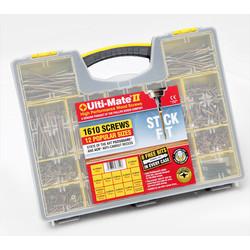 Ulti-Mate II Stick-Fit Zinc & Yellow Plated Screw Attache Case