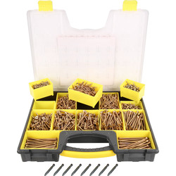 Ulti-Mate II Ulti-Mate II Stick-Fit Zinc & Yellow Plated Screw Attache Case  - 70021 - from Toolstation