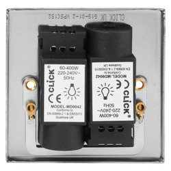 Click Deco Satin Chrome Dimmer Switch