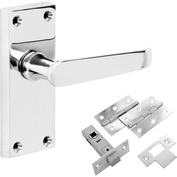Hiatt Victorian Straight Polished Handle Latch Door Pack - 70137 - from Toolstation