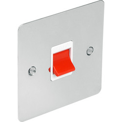 Flat Plate Polished Chrome 45A DP Switch  - 70252 - from Toolstation