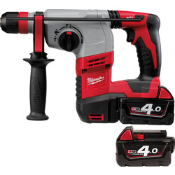 Milwaukee Milwaukee HD18HX-402C 18V Li-Ion Cordless Heavy Duty 3 Mode SDS Plus Rotary Hammer Drill 2 x 4.0Ah - 70357 - from Toolstation