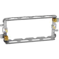 Grid Switch (Yoke) Fixing Plate 4 Gang - 70362 - from Toolstation