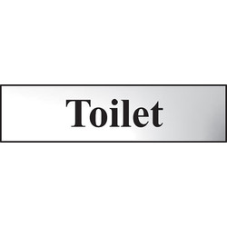 Centurion Chrome Effect Door Sign Toilet - 70544 - from Toolstation