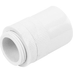 20mm PVC Male Adaptor White - 70559 - from Toolstation