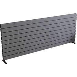 Ximax Ximax Oxford Duo Horizontal Designer Radiator 670 x 1800mm 7133Btu Silver - 70568 - from Toolstation