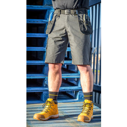 "DeWalt DeWalt Ripstop Holster Pocket Shorts 32"" Grey - 70634 - from Toolstation"