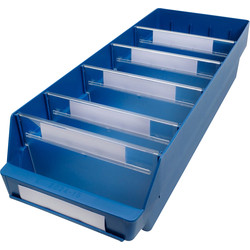 Barton Blue Shelf Bin 600 x 240 x 150mm - 70729 - from Toolstation