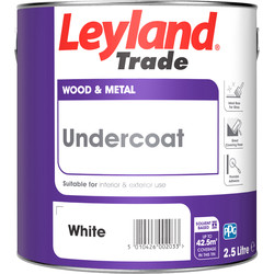 Leyland Trade Leyland Trade Undercoat Paint White 2.5L - 70744 - from Toolstation