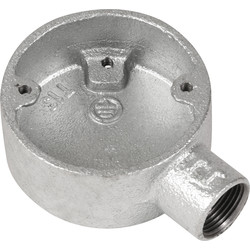 Deta Deta Metal Terminal Box 20mm Galvanised - 70820 - from Toolstation
