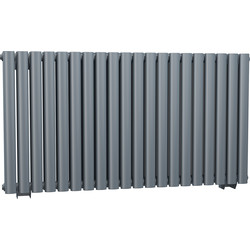 Cassellie Double Panel Horizontal Designer Radiator 633 x 1180mm Anthracite 4742Btu - 70889 - from Toolstation