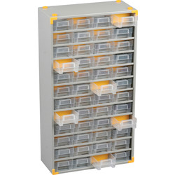 Barton Steel Small Parts Compact Cabinet 565 x 300 x 140mm - 73 Pieces - 70917 - from Toolstation