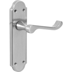 Jedo Mandara Door Handles Latch Satin - 70936 - from Toolstation