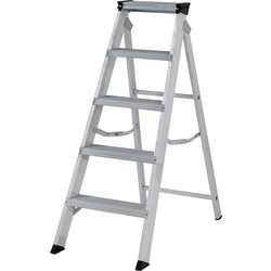 Youngman Youngman Industrial Builders Step Ladder 5 Tread SWH 2.39m - 71025 - from Toolstation