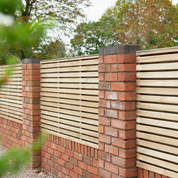 Forest Forest Garden Pressure Treated Contemporary Double Slatted Fence Panel 6' x 3' - 71030 - from Toolstation