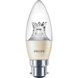 Philips Philips LED Warm Glow Dimmable Candle Lamp 4W BC (B22d) 250lm - 71063 - from Toolstation