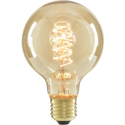 Inlight G80 Vintage Incandescent Decorative Dimmable Lamp 40W ES (E27) Tinted 140lm - 71167 - from Toolstation