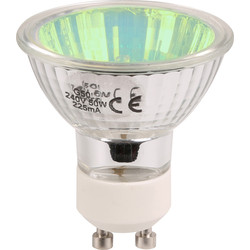 Tru Colour GU10 Halogen Lamp 50W Green - 71215 - from Toolstation