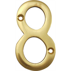 Brass Numeral 75mm 8