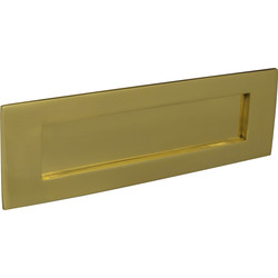 Victorian Letter Plate Brass - 71247 - from Toolstation