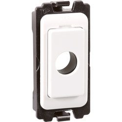 Wessex Wiring Wessex Grid Switch Ancillaries White Flex Outlet - 71262 - from Toolstation