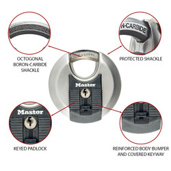 Master Lock EXCELL Stainless Steel Disc Padlock