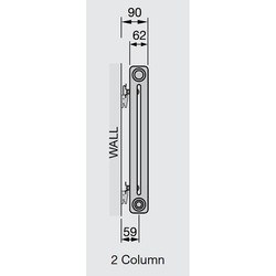 Arlberg 2-Column Vertical Radiator