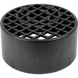 Aquaflow Round Gully Grid Black - 71323 - from Toolstation