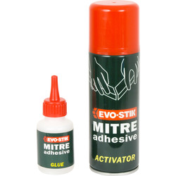 Evo-Stik Evo-Stik Mitre Adhesive 50g + 200ml - 71377 - from Toolstation