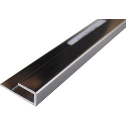 Mermaid Mermaid Acrylic Polished Silver Shower Wall Panel Trims End Cap 2440mm - 71379 - from Toolstation