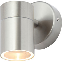 Zinc Leto Stainless Steel Up or Down Wall Light IP44 GU10 1 x 35W Max - 71495 - from Toolstation