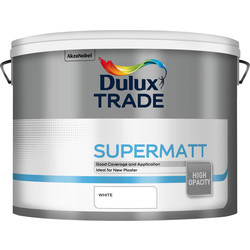 Dulux Trade Dulux Trade Supermatt Emulsion Paint 10L White - 71506 - from Toolstation