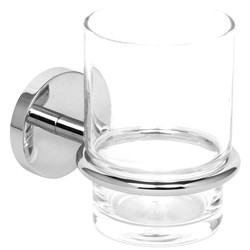 Eclipse Polished Tumbler Holder & Glass Chrome - 71558 - from Toolstation