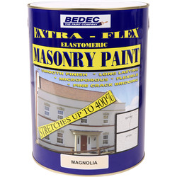 Bedec Bedec Extra-Flex Elastomeric Masonry Paint Magnolia 5L - 71570 - from Toolstation