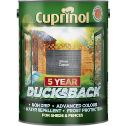 Cuprinol Cuprinol Ducksback Shed & Fence Treatment 5L Silver Copse - 71602 - from Toolstation