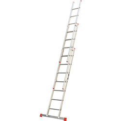 Lyte Domestic Extension ladder 3 section, Closed Length 2.2m