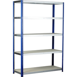 Barton Eco Shelving Bay with Chipboard Shelves 5 Tier 1760 x 1200 x 450mm - 71743 - from Toolstation